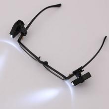 Eyeglass Clip Lantern 2pcs Mini Flashlight Glasses Reading Lamp Adjustable Eyeglasses Lamp Flexible Book Reading Lights cheap Tonewan CN(Origin) Book Lights None Dry Battery Button Cell LED Bulbs N1433-01 Plastic 4x2 3x2 6cm Can Be Clipped On The Glasses