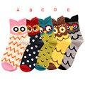 Durable Autumn Winter Fashion New Women Cute Owl Socks Casual Cotton Socks Hot
