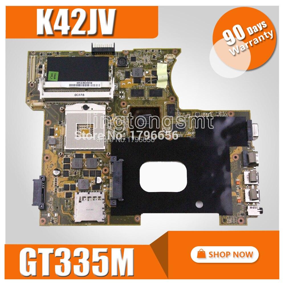 K42JV motherboard REV2 2 GT335M 1GB For ASUS A42J X42J K42J Laptop motherboard K42JV mainboard K42JV