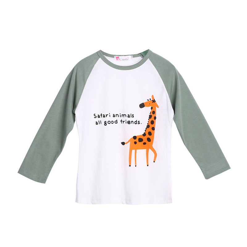 ᗖOtoño Raglan jirafa patrón bebé niños camiseta chica chico Tops ...