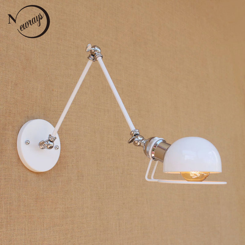 Modern Wall Lamps Europe : Aliexpress.com : Buy North Europe modern white retro adjust head swing arm wall lamps e27 ...