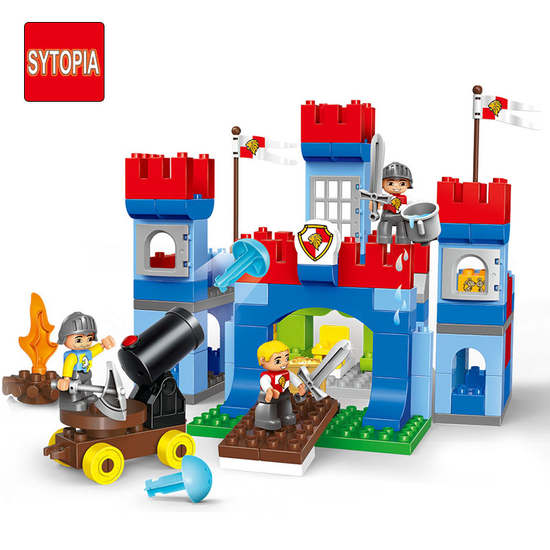 Sytopia Castle War Knight Children Building Blocks Big Size Educational Toy For Baby Kid Gift Toy