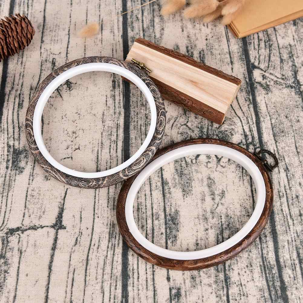 DIY Frame Embroidery Hoop Ring Round Hand Needlecraft Household Sewing Tool Practical Cross Stitch Machine Wooden 12-29cm