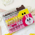 10 Pcs/Lot Sample Size Cute Lipstick Yellow Duck Brown Bear Pink Rabbit Lipstick Lipgloss Waterproof Easy to Wear Matte Lipstick