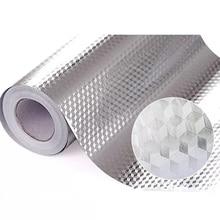 40x100/200cm Kitchen Oil proof Waterproof Stickers Aluminum Foil Kitchen Stove Cabinet Self Adhesive Wall Sticker DIY Wallpaper