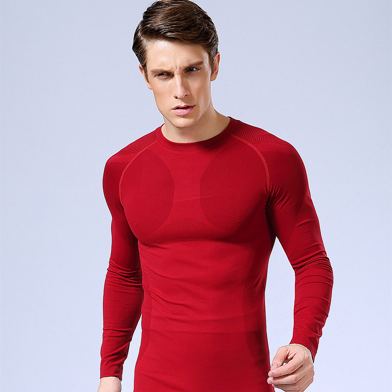c2c0b5d2 New fitness Men Long Sleeve Basketball Running Sports T Shirt Men Thermal Muscle  Gym Bodybuilding Compression Tights Tees-in Running T-Shirts from Sports ...