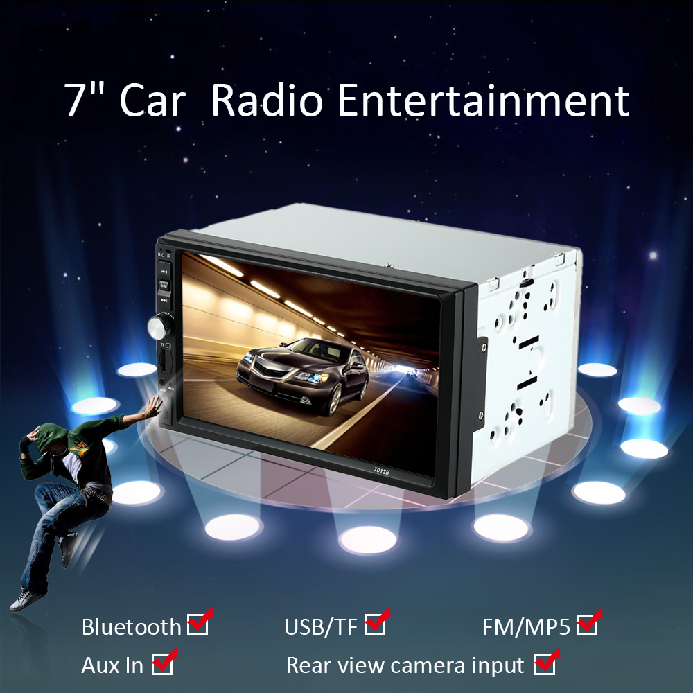 2016 2 Din 7 Inch Car Mp5 Player Multimedia Fit for VW/Volkswagen/Camry/Ford/Audi/BMW With Rear View Camera Interface