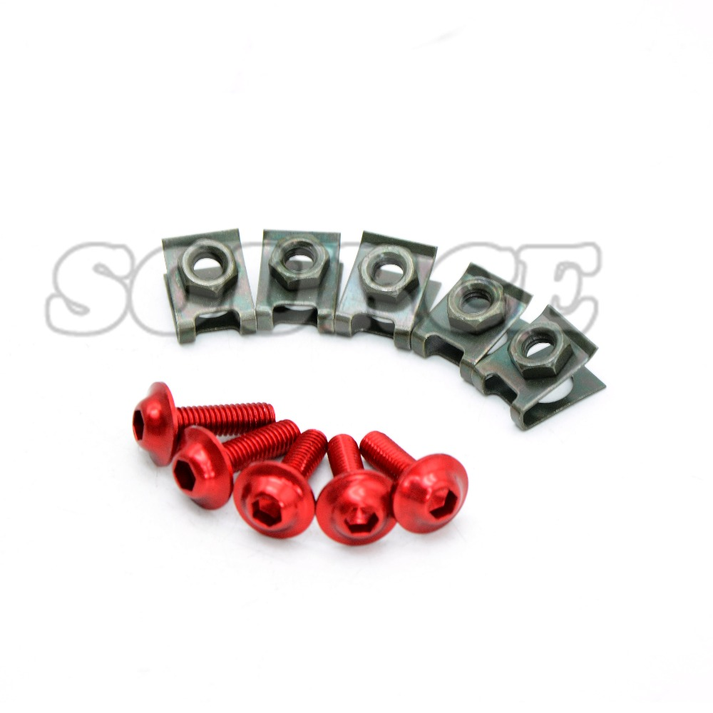 5pcs 6mm CNC Motorcycle Fairing body work Bolts Screws For Honda CBR250R CBR300R Suzuki 2005 2006 GSXR 1000 GSXR1000 K5 in Covers Ornamental Mouldings from Automobiles Motorcycles