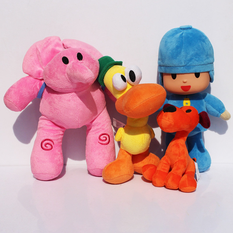 4pcs/lot 14-30cm Anime Cartoon Pocoyo Loula Elly Pato Soft Stuffed Animals Plush Toys ...