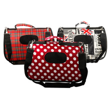 Pet Dog Carrier Bag Chihuahua Red grid Travel Outdoor Single Shoulder For Small Cat S/M/L