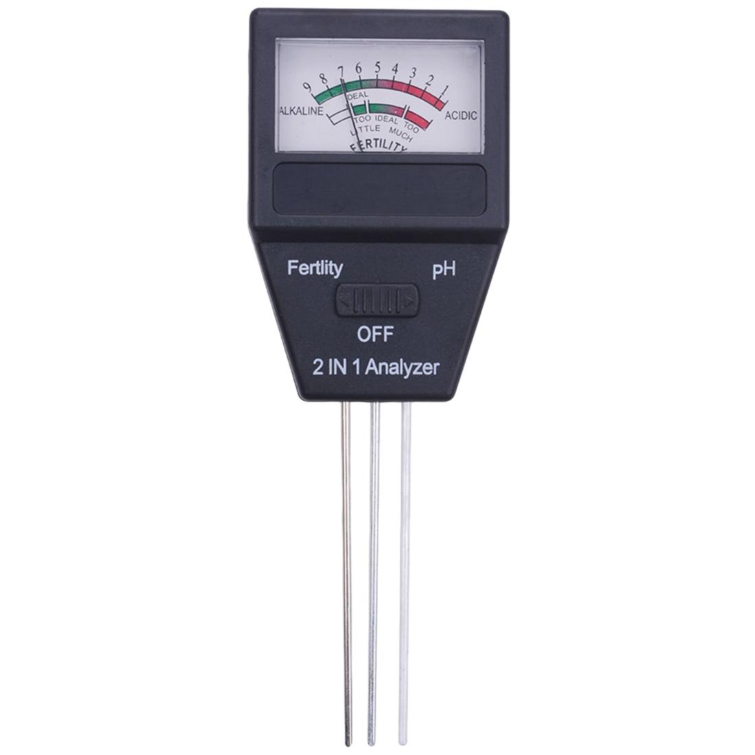 Digital PH Meter Soil PH Level Meter Tester Fertility Tester for Plants Flowers Vegetable Acidity Moisture PH Measurement цена