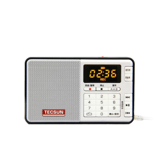 Free Shipping TECSUN Q3 FM Stereo Pocket Size Recorder MP3 Player Radio  FM 76-108 With 16G TF Card