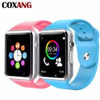 Coxang a1 relógio inteligente para crianças bebê 2g sim cartão dail chamada telefone relógio de tela toque à prova dwaterproof água relógio inteligente smartwatches