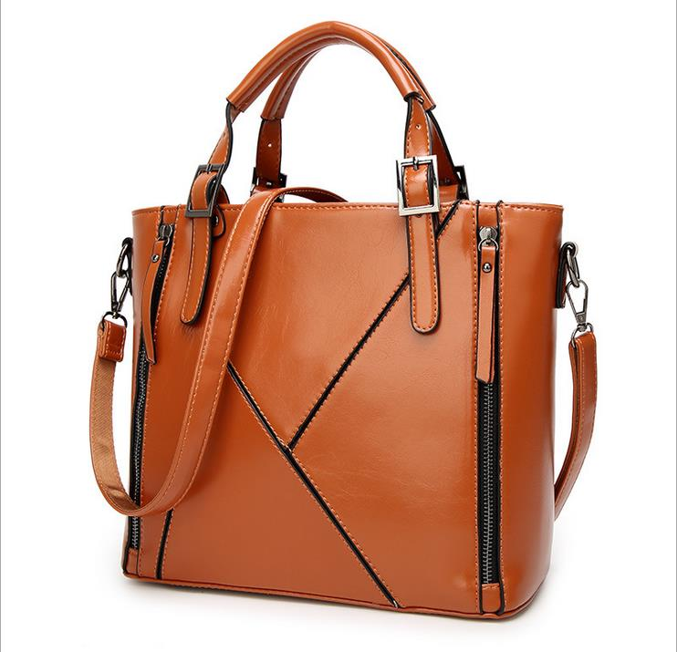 Fashion Patchwork Designer Cattle Split Leather Bags Women Handbag Brand Ladies Shoulder