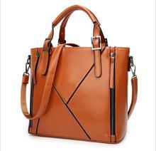 NEW Fashion Patchwork Designer Cattle Split Leather Bags Women Handbag Brand High Quality Ladies Shoulder Bags Women Bags