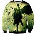 Новые Harajuku Толстовка Мужчины Женщины С Длинным Рукавом Верхняя Одежда Наруто Итачи 3D Толстовка Винтаж Crewneck Пуловеры