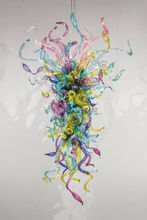 лучшая цена Free Shipping Amazing Stylish Multi Colored Glass Pendant Lamp