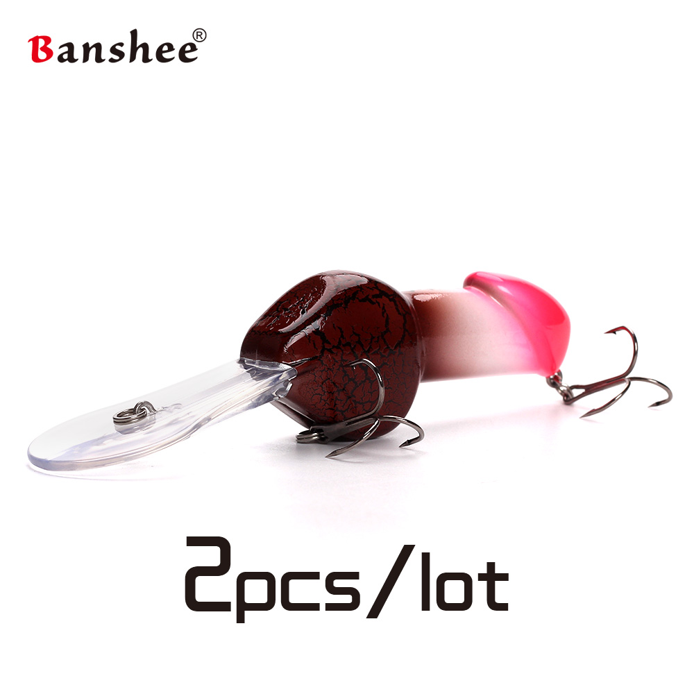 Banshee 2pcs/lot Crankbait  JJ01 Valentine's Gift Wobbler Deep Diving hard Artificial bait Dick Fishing Lure Minnow Jerkbait 5pcs lot minnow crankbait hard bait 8 hooks lures 5 5g 8cm wobbler slow floating jerkbait fishing lure set ye 26dbzy