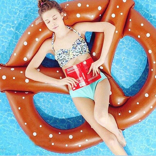 Крендель Плавание плавает бассейн надувной матрац надувной круг Кольцо Буй Kickboard воды лодка Для летних вечеринок надувные пончик