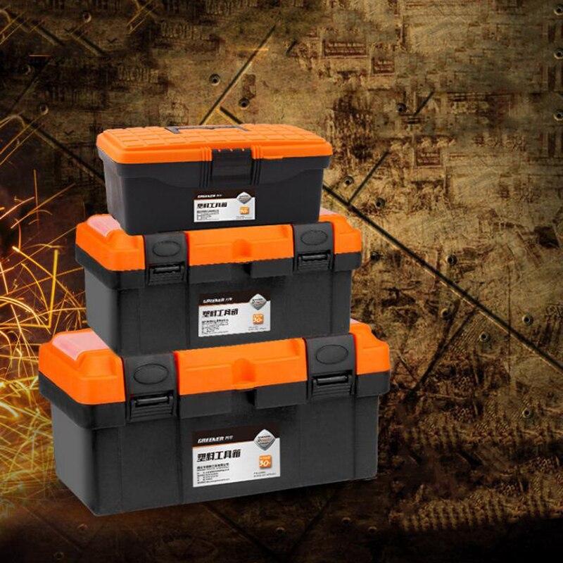 Large Toolbox Household Maintenance Electrician Tool Box Multifunctional ABS Hardware Car Repair Anti-fall Box 12