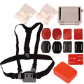 KingMa Sports Action Camera Accessories Kit for Gopro Chest strap+Flat and Arc base+Buoy+3M adhesive pad+Anti-fog inserts LM3536
