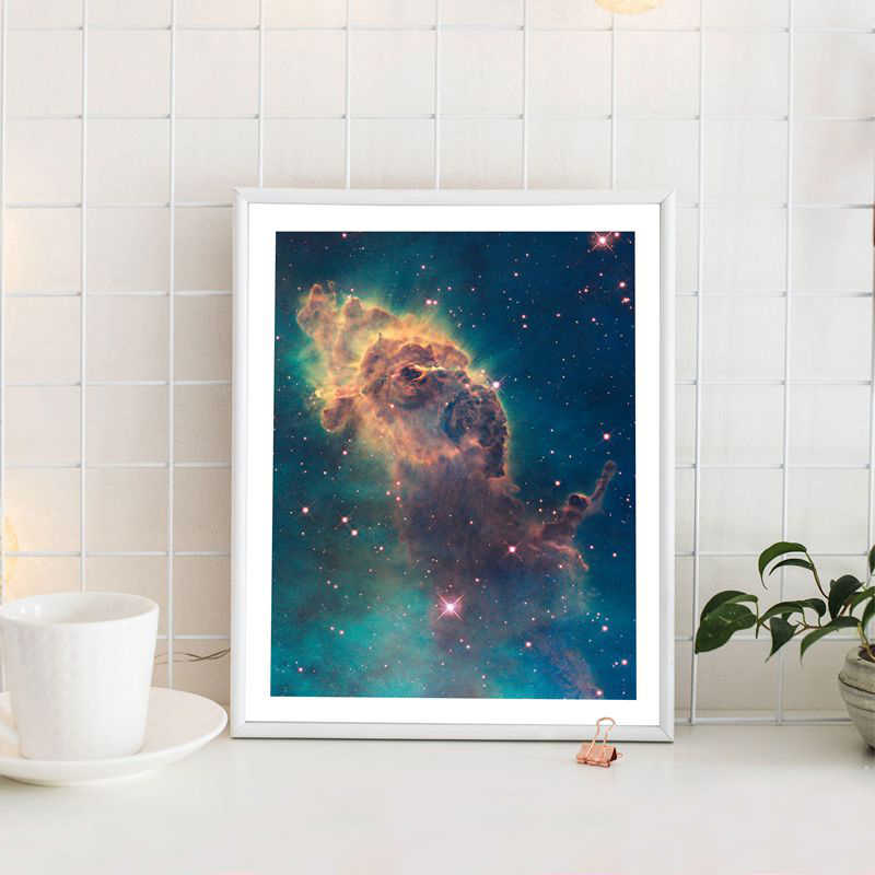 Universe Art Galaxy Poster Nebula Prints Hubble Telescope Space Canvas Painting Science Wall Art Picture