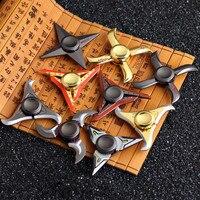 Shuriken genji ninja darts Tri-Spinner Fidget Toy metal EDC Fidgets Hand Spinner Autism ADHD Increase Focus OW gift COOL LOL OW