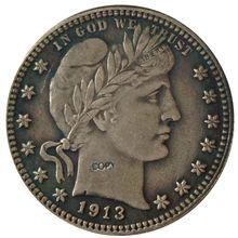 Дата 1913 1913-D 1913-S 1914 1914-D 1914-S 1915 1915-D США четверть доллара Барбера долларовые монеты КОПИЯ