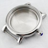 Polished SS 43mm Watch Case Fit ETA 2836 MIYOTA 8205/8215,Mingzhu 2813 Movement