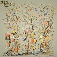 Beibehang пользовательские papel де parede 3D Цветок Птица схема ТВ фон фото обои для стен 3 d 3d пол живопись обои