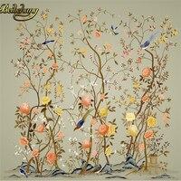 Beibehang Custom Papel De Parede 3D Flower Bird Diagram TV Background Photo Wallpaper For Walls 3