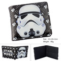 Anime Cartoon Star Wars Storm Trooper Wallets PU Leather Slim Purse Young Boys Girls Student Short Wallet