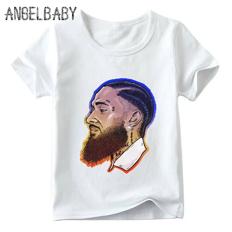 d337f7f8ca Boys/Girls Rapper Lil Peep Nipsey Hussle Print T-shirt Children Summer  O-Neck Tops Kids Hip Hop Fashion Baby T shirt,HKP5280