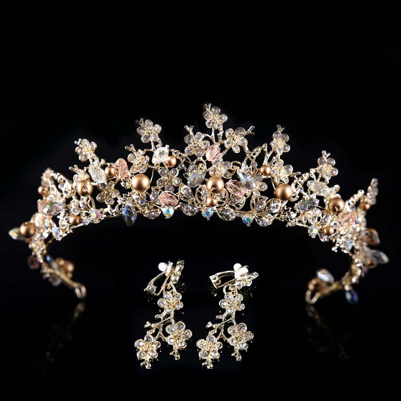Hairstyles With Crown Queen: New Luxury Baroque Styles Vintage Wedding Bridal Alloy