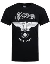 New SAXON Sacrifice UK Heavy Metal Rock Band Mens White T-Shirt Size S To 3XL 2017 Fashion MenS T Shirts Short Sleeve