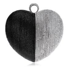 hot deal buy new heart shaped women messenger evening bags finger ring diamonds small purse day clutches handbgas for wedding party dinner