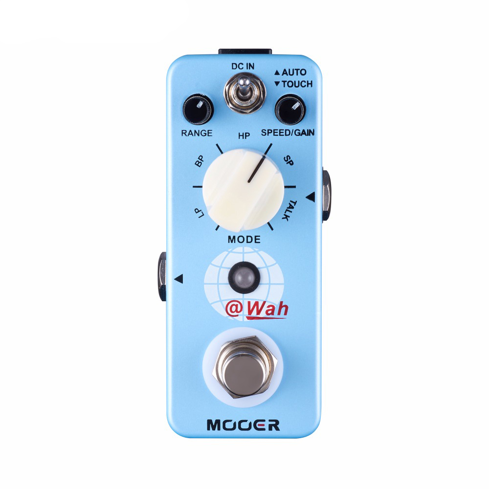 Mooer @WAH Effects 5 Filter Modes True Bypass Digital Auto Wah Guitar Effect Pedal mooer single acoustic delay chorus effects true bypass baby water effect guitar pedal