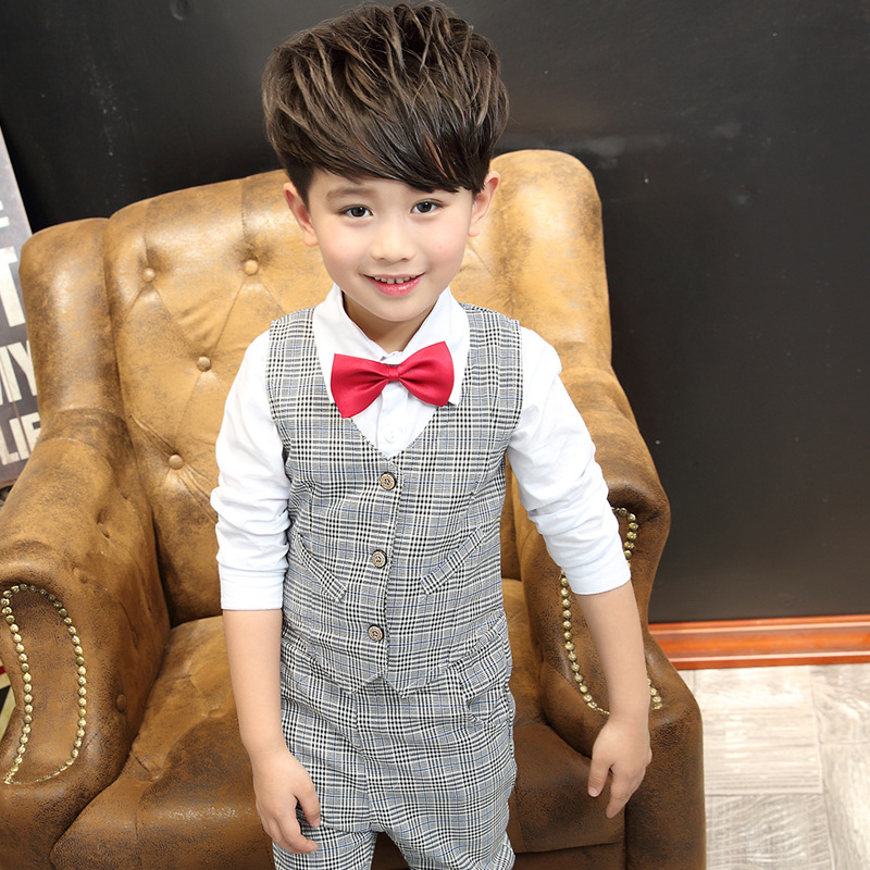 2018 Spring and autumn children's clothing Vest and shirt and pants suit Boy's clothes Kids clothes For boys Children Set