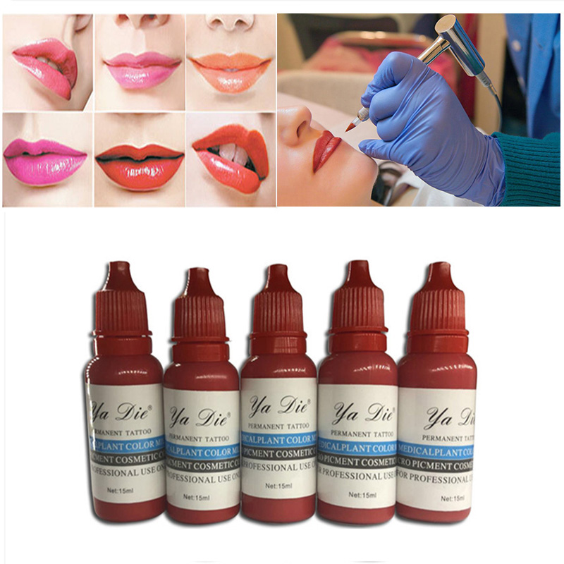 22P Permanent Ink Makeup Micro Pigment Cosmetic Permanent Eyebrow Eyeliner Lip Tattoo Ink Permanent Body Painting Beauty Tools free shipping 3 pp eyeliner liquid empty pipe pointed thin liquid eyeliner colour makeup tools lfrosted purple