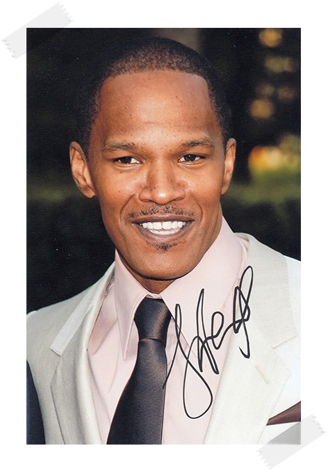 Jamie Foxx / Eric Marlon Bishop autographed signed photo 4*6 inches authentic freeshipping  01.2017 topshop jamie