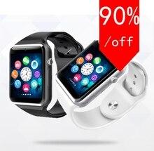 2016 mode Männer Frauen Armbanduhr Bluetooth Smart Uhr Android Sport Pedometer Mit SIM Slot Kamera Smartwatch Für Android 11