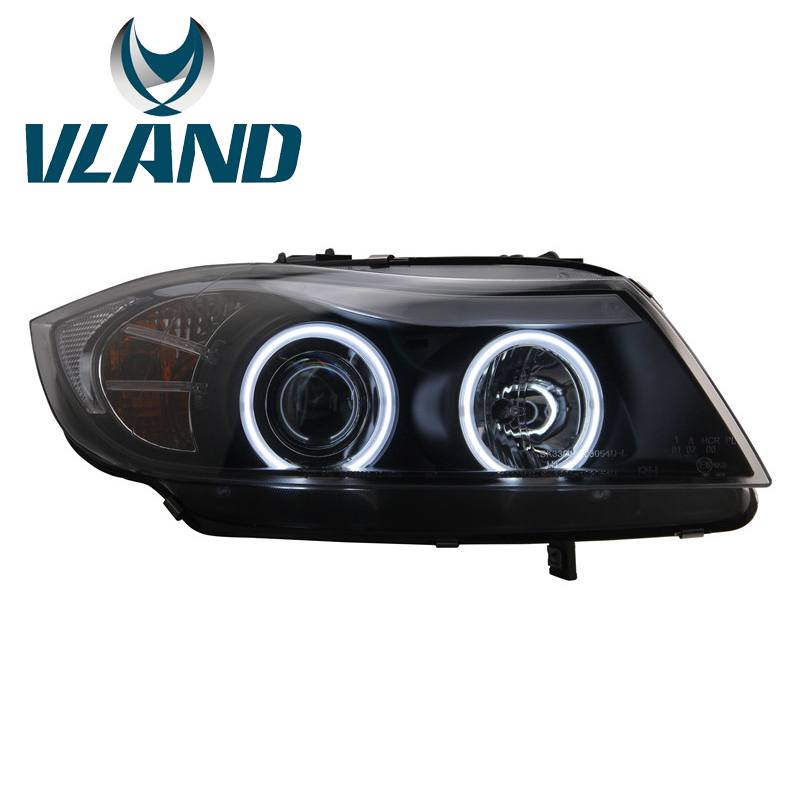 VLAND Factory For Car Head Lamp For <font><b>E90</b></font> Headlight 2005-2012 For 318 320 325i <font><b>LED</b></font> Head Light <font><b>H7</b></font> Xenon Lens With H1 Or <font><b>H7</b></font> <font><b>Led</b></font> Lamp image