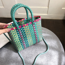 Rattan Woven Handmade Women Handbag Summer Beach Bag Straw Large Capacity Totes Women Shoulder Crossbody Bags Bohemia New new fashion large capacity totes handbag shoulder bags for women square straw bag summer rattan bag handmade woven beach bohemia