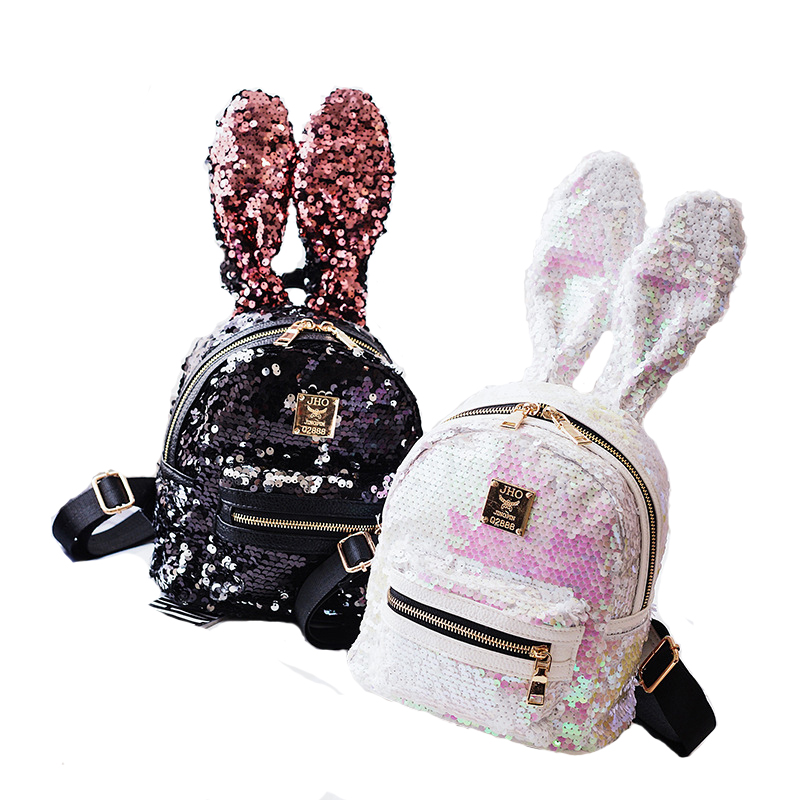 2017 New Sequins Backpack Women School Bags  Bling Backpack Bag  Small Travel Sequins Backpack Mochila Feminina 2017 new arrive famous brand designer women bling bling backpack fashion sequins backpack preppy style girl s school bags xa294b