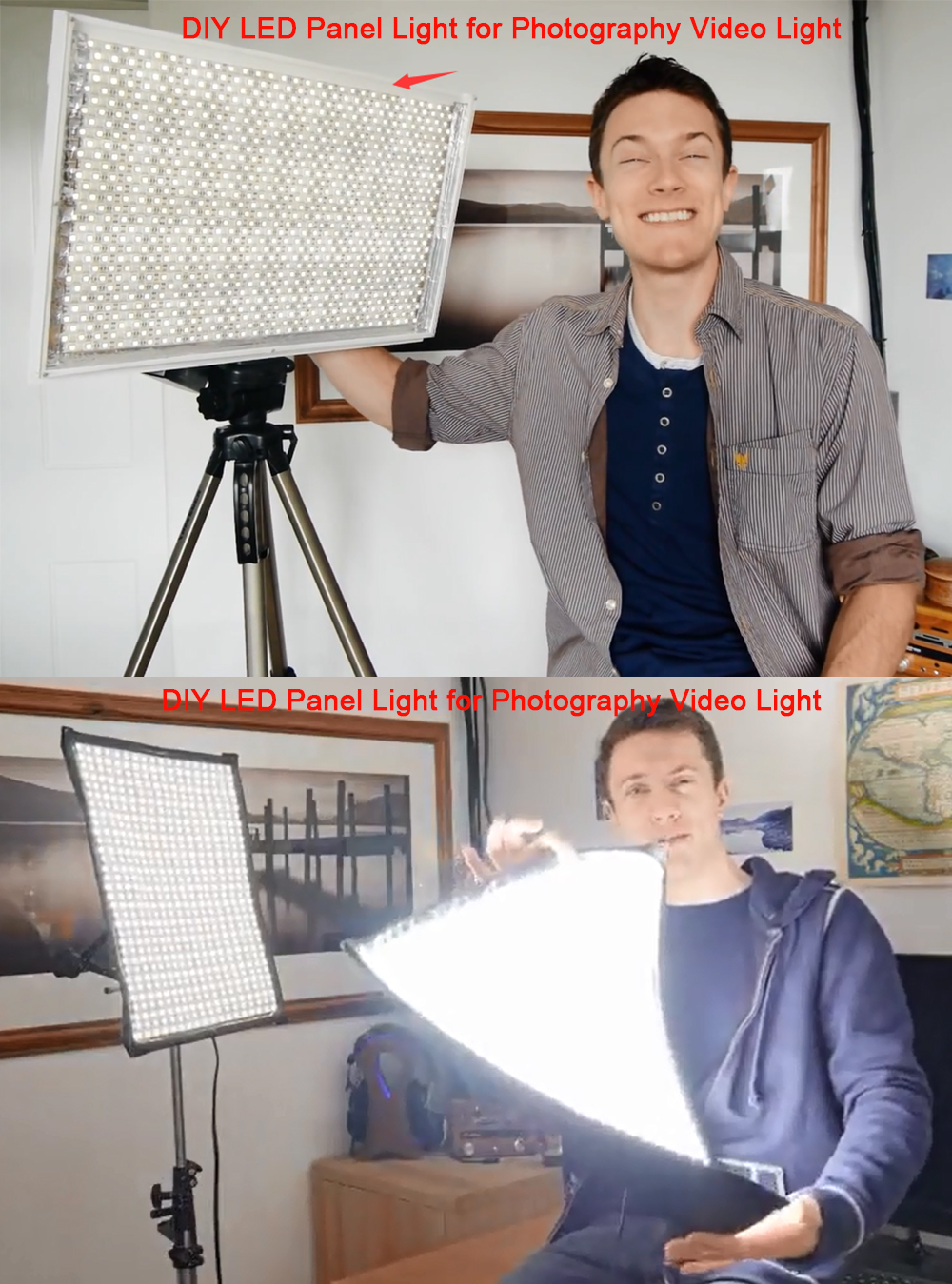 DIY LED U-HOME High CRI RA 90+/95+/97+ LED Strip Light SMD5630 Daylight White 5600K For Camera Photography DIY LED Panel Light