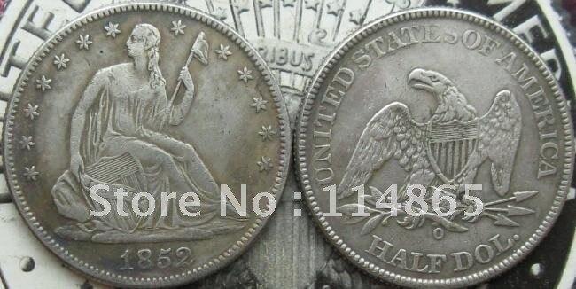 1852-O SEATED LIBERTY HALF DOLLAR COIN COPY commemorative coins-replica coins medal coins collectibles