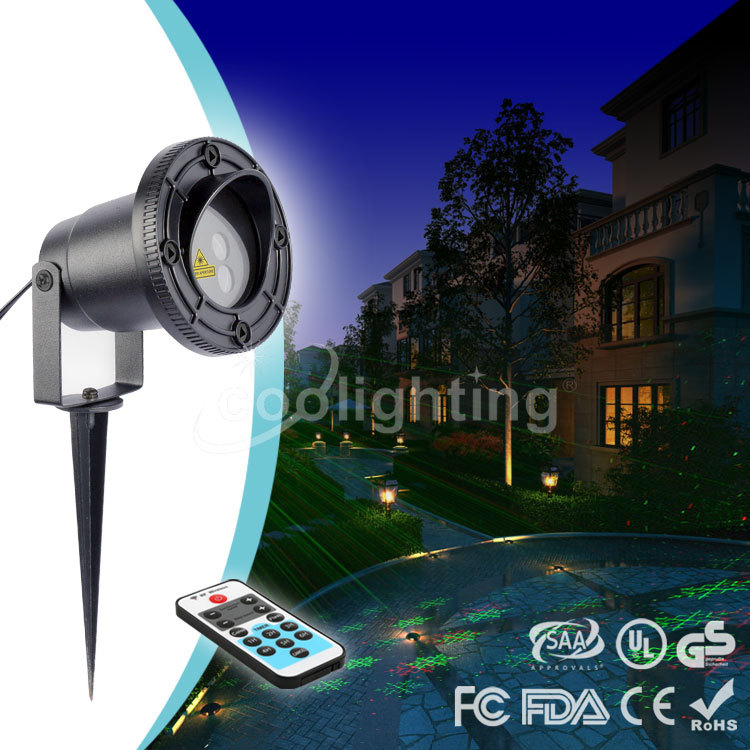 ФОТО High quality Christmas red stars waterproof outdoor remote laser lights lawn lamp lamp.