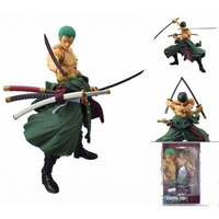 Pop One Piece Roronoa Zoro Figure Japanese Anime 19cm Movable Joints Pvc Action Figure Collection Model Doll Kids Hot Toys gift