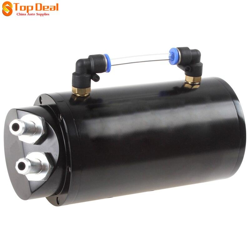 הפתעה מחיר 750 ML עגול מאגר Catch Oil מנוע אלומיניום בילט מירוץ שחור Surge דלק בנזין מתכת טנקים/יכול