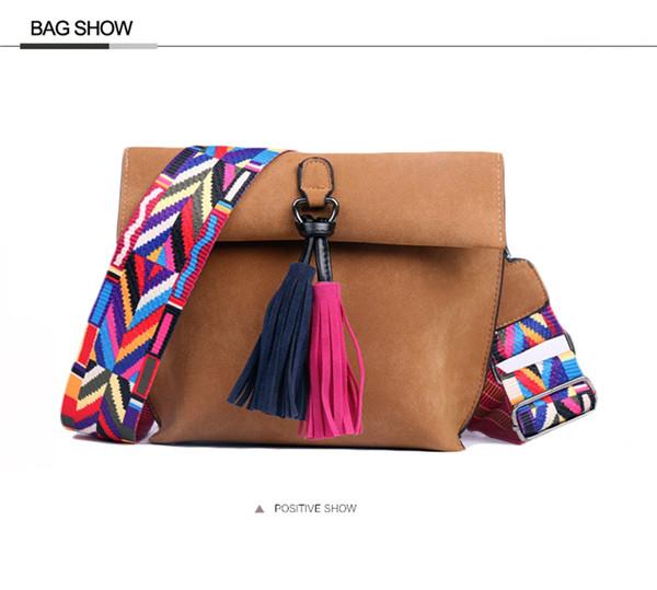 EXCELSIOR Women's Bag Scrub PU Crossbody Bags Luxury Handbags Women Bags Designer bolso mujer Colorful Strap sac a main femme 8